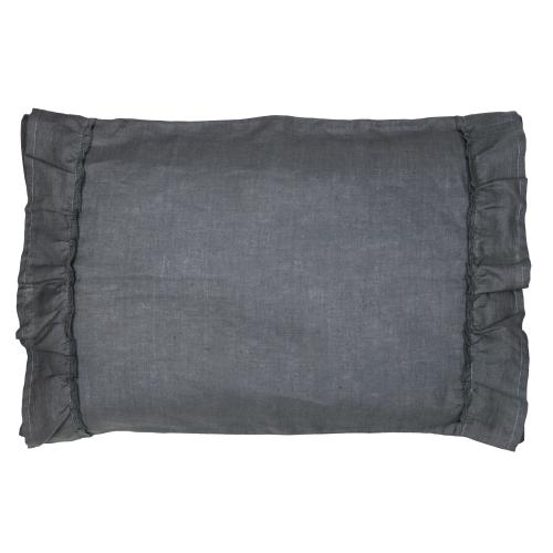 Pillow case ruffle | Graphite grey | Mood ruffles