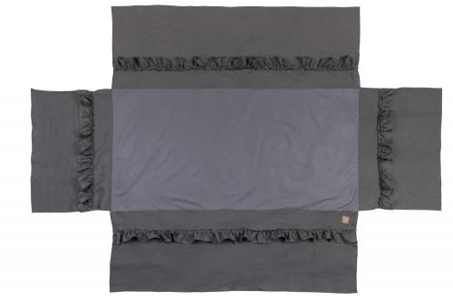 Bed skirt ruffle | Graphite grey | Mood ruffles