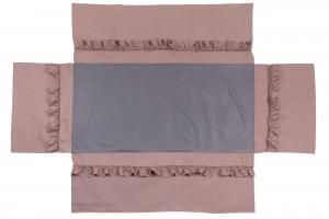 Bed skirt ruffle | Dusty pink | Mood ruffles