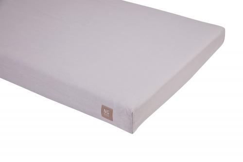 Fitted flat sheet | Light grey | Mood