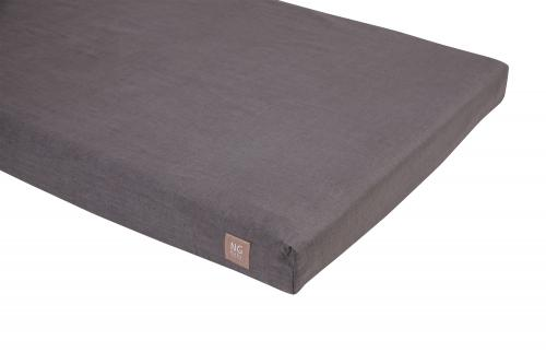 Fitted flat sheet   Graphite grey   Mood