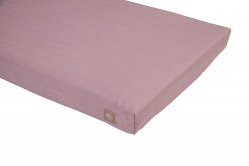 Fitted flat sheet   Dusty pink   Mood