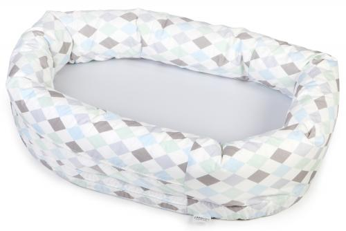 Sleep nest | Grey & Harlequin blue | Circus & Harlequin