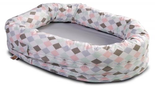 Sleep nest | Grey & Harlequin pink | Circus & Harlequin