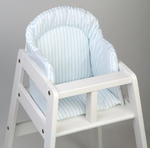 High chair booster | Light blue stripe | Sensitive