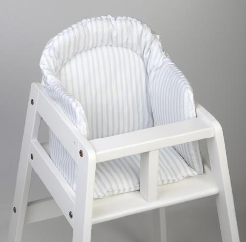 High chair booster | Light grey stripe | Sensitive