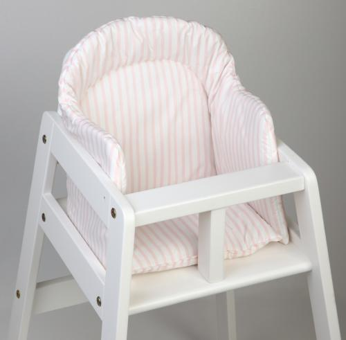 High chair booster | Light pink stripe | Sensitive