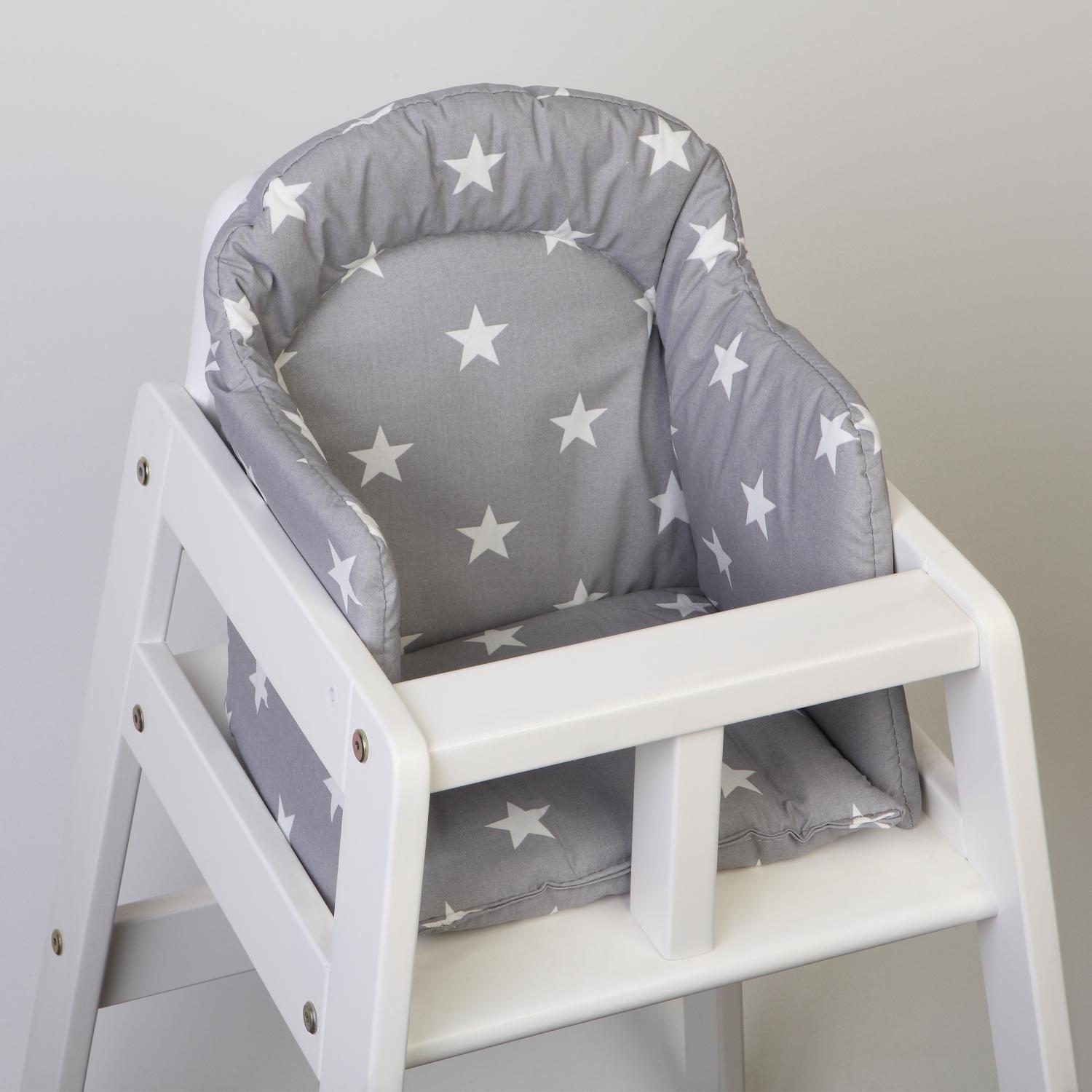 High chair booster | Grey star | New England