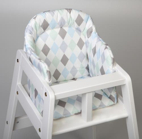 High chair booster | Harlequin blue | Circus & Harlequin