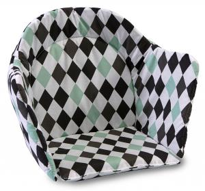 High chair booster | Harlequin black | Circus & Harlequin
