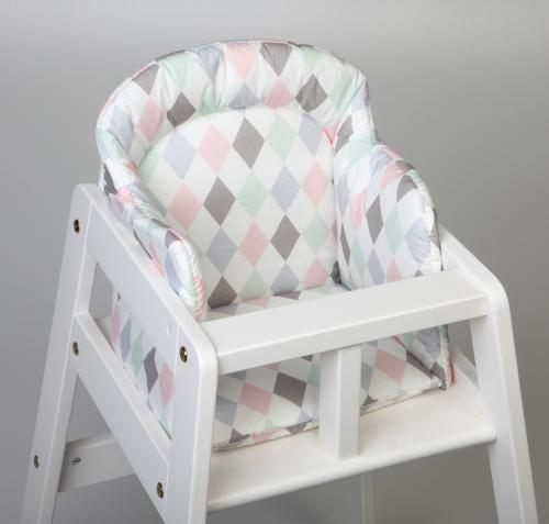High chair booster | Harlequin pink | Circus & Harlequin