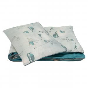 Duvet set piping | Woods petrol | Woods & Fairytales