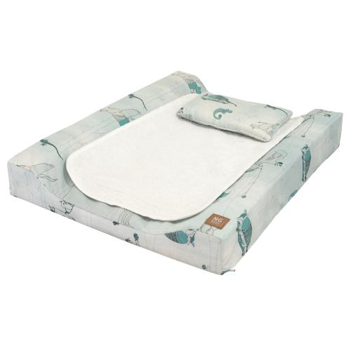 Changing pad de lux | Woods petrol | Woods & Fairytales