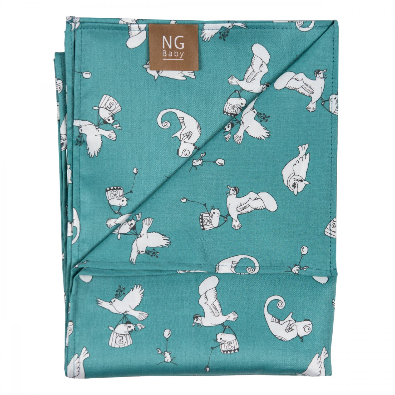 Flat sheet | Fairytale Petrol | Woods & Fairytales