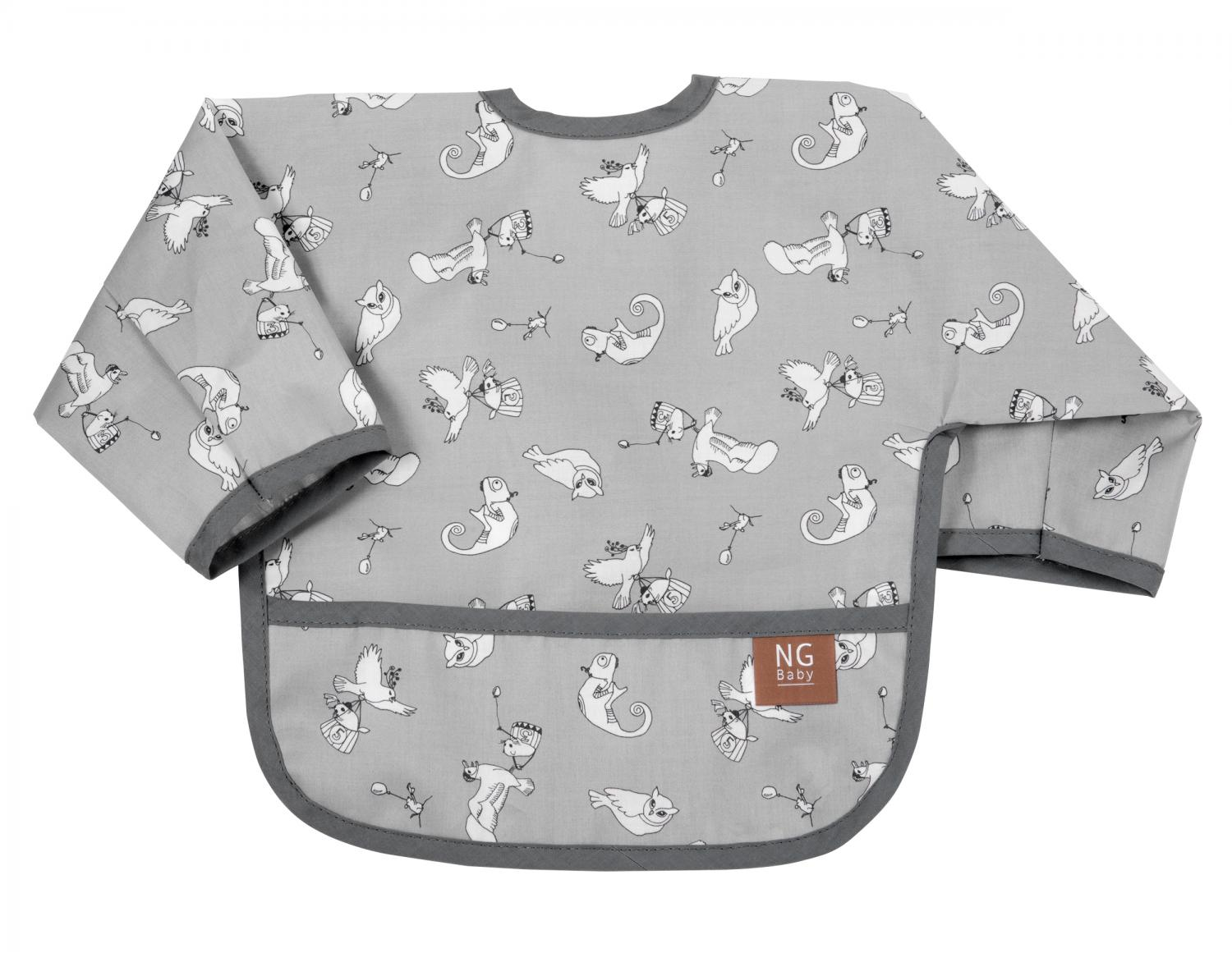 Bib with arms | Fairytale grey | Woods & Fairytales