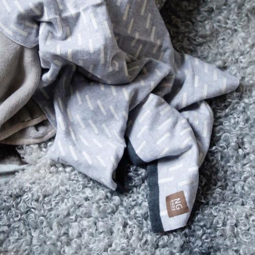 Cotton blanket | Grey line