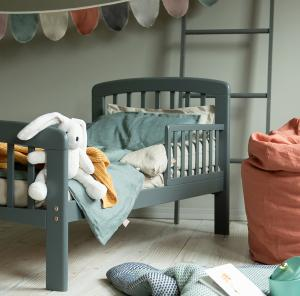 Toddler bed Lux   Seal Grey   Troll