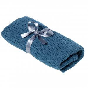 Cellular blanket | Dusty blue