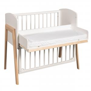Bedside crib Come-to-me | White/natural | Troll