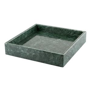 Marmorbricka fyrkantig grön