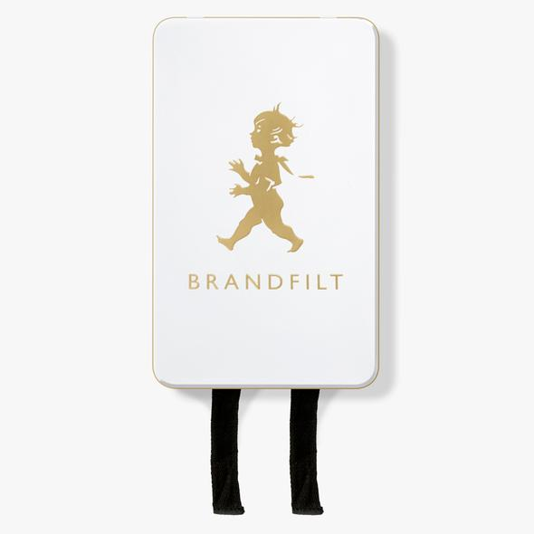 BRANDFILT VIT GULD