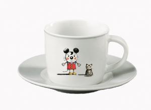 Mus med Katt Espressokopp