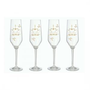 Champagneglas i kristall -  Kärleksgåvan - 4 glas