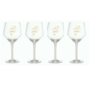 Kärleksgåvan - Rödvinsglas i kristall  - 4 glas