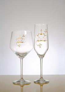 Champagneglas i kristall