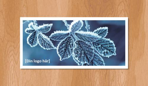 Kallelsekort för laserutskrift, Vinterlöv - 300st