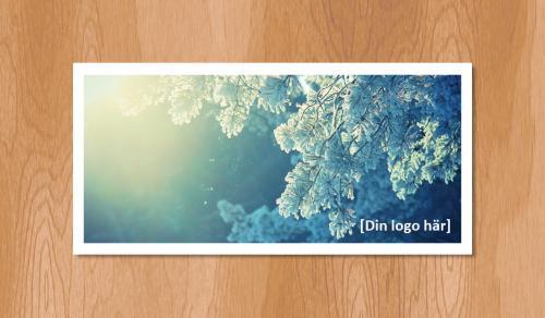 Kallelsekort för laserutskrift, Vinterbarr - 300st