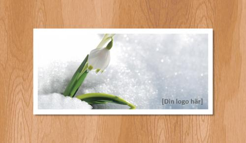 Kallelsekort för laserutskrift, Snödroppe Vår - 300st
