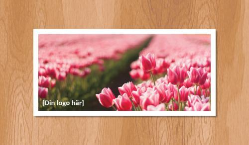Kallelsekort för laserutskrift, Sommartulpaner - 1020st