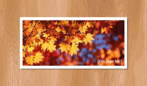 Kallelsekort för laserutskrift, Höstlöv - 1020st
