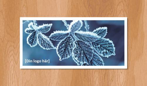 Kallelsekort för laserutskrift, Vinterlöv - 1020st