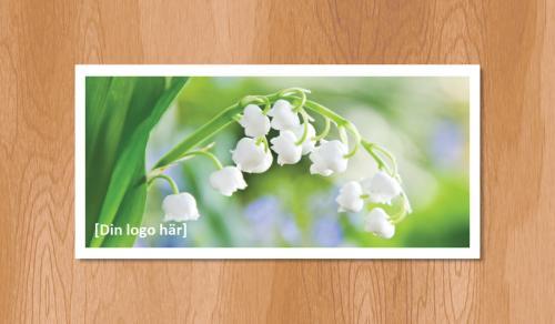 Kallelsekort för laserutskrift, Liljekonvalj Vår - 1020st