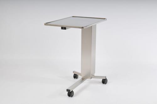 Assistansbord, 700 x 500 mm Skiva m. högre kant, Höjd: 900 - 1400 mm