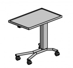Assistansbord, 800 x 520 mm, Höjd: 800 - 1300 mm