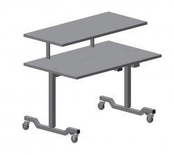 Stort instrumentbord, 1800x750 mm, Överhylla: 1800x550mmHöjd: 700-950