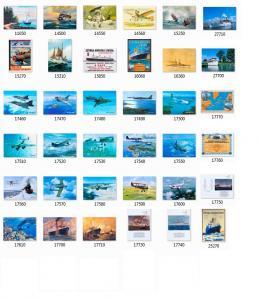 Bild på alla Flyg och Båtar, klicka på bilden för förstoring