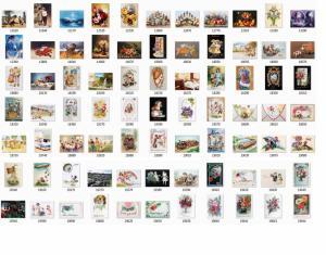 Bild på alla Grattulations kort, klicka på bilden för att förstora