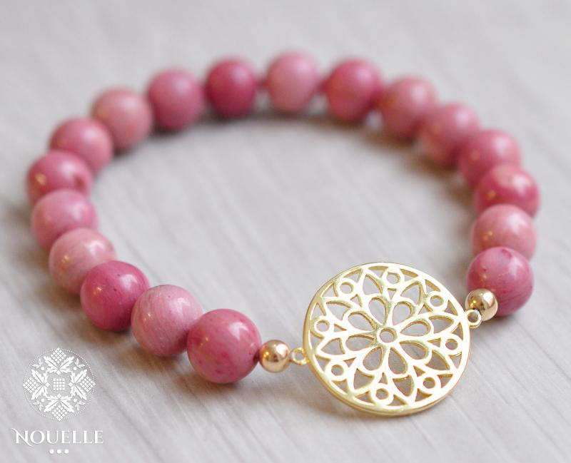 Bloom Bracelet - Rhodonite