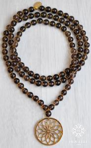 Bloom Mala - Smoky Quartz