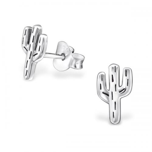 Cactus Earrings Silver