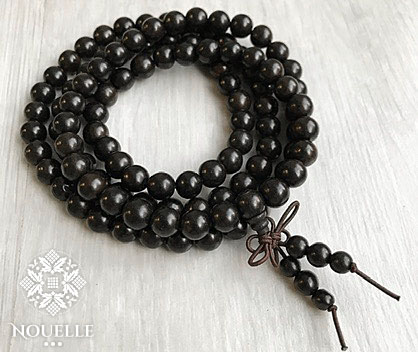 Wrap Mala Bracelet - Dark Brown
