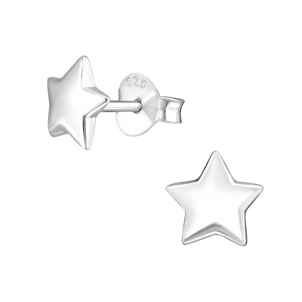 Star Earrings Silver