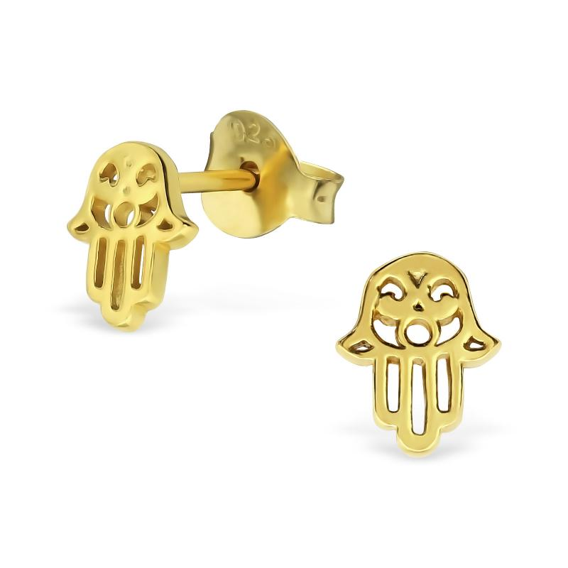 Hamsa Earrings Gold