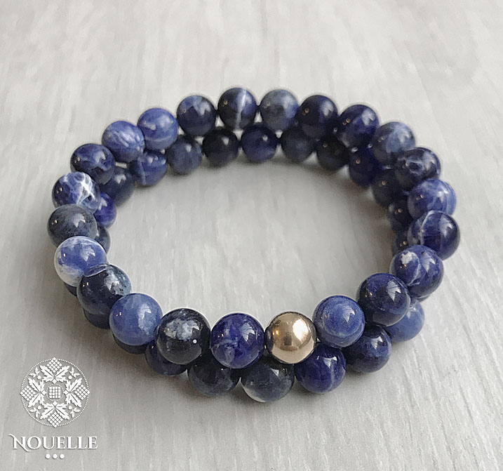 Men's Bracelets - Sodalite/Gold