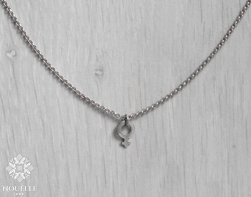 Silver Necklace - Female Sign
