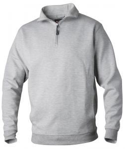 Sweatshirt zip Askgrå